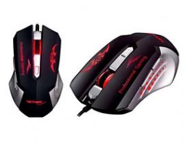 Mouse Gamer Warrior Series Xenon 2400DPI Interfaz USB 6botones