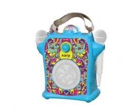 Parlante Karaoke Kids c/2 microfonos LED USB Bluetooth Celeste