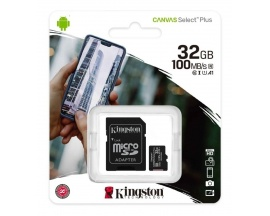 Memoria Micro SD Kingston 32gb Clase 10 Canvas Select 80mb/s