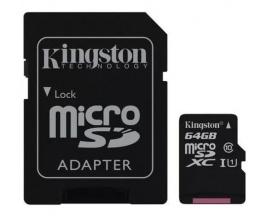 Memoria Micro SD Kingston 64gb Clase 10 Canvas Select 80mb/s