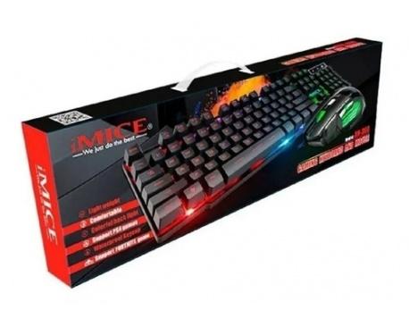 Combo Teclado y Mouse USB Gamer AN-300 Retroiluminado High Precision