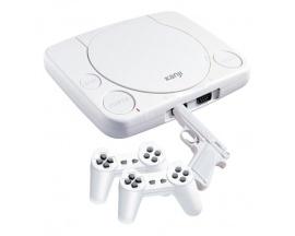 Consola Retro 22 Juegos 16 Bits Simil Playstation Standard blanca 2 joystick