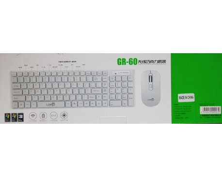 Combo Teclado y Mouse WIFI Inalambrico Gr60 Wireless