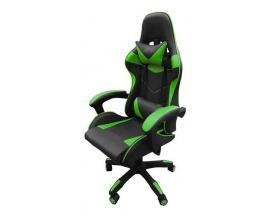 Silla Gamer Profesional Escritorio Reclinable Pc Playstation Xbox Ruedas Oficina Verde