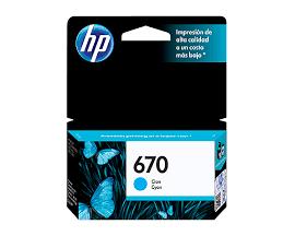 Cartucho Original HP 670 Color Cyan