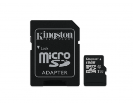 Memoria Micro SD Kingston 16GB Con Adaptador