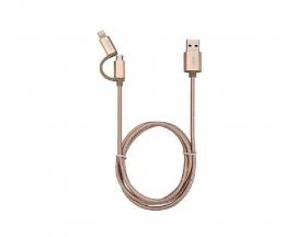 Cable IntCo Usb 2 en 1 Para Iphone y Micro Usb 09-084B