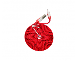Cable de Datos USB P/ iPhone Textil Lightning 2M Varios Colores