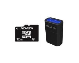 Tarjeda de Memoria MICRO SDHC ADATA de 16GB Clase 10 con Micro Reader